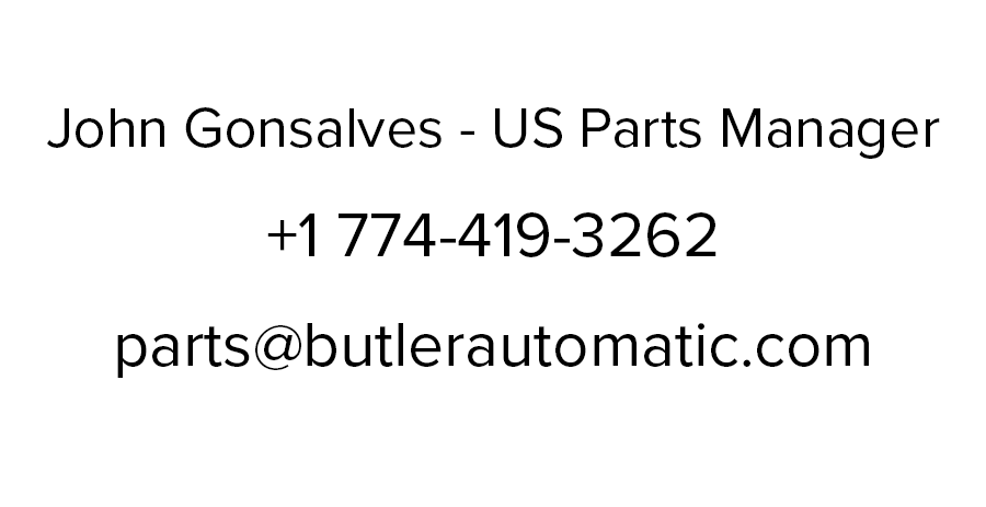 John Gonsalves - US Parts Manager at Butler Automatic
