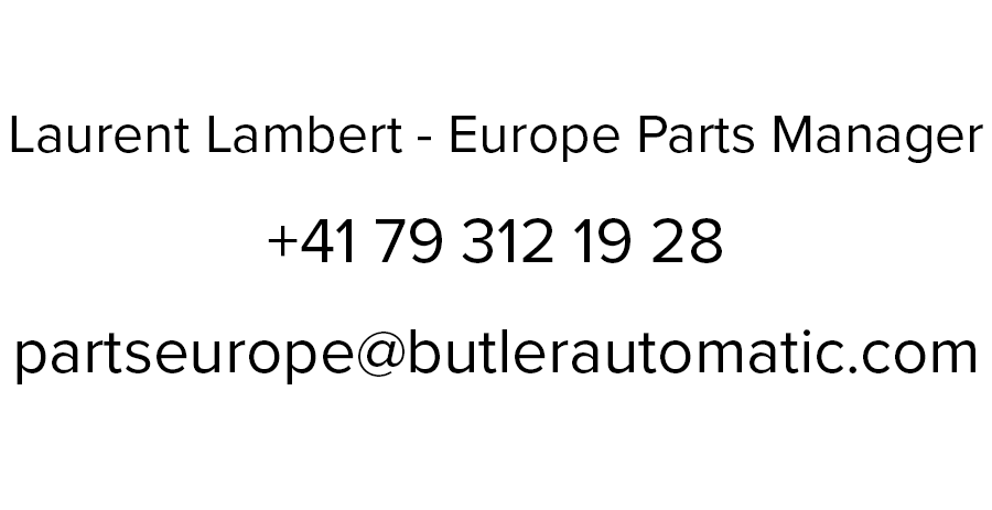 Laurent Lambert - Europe Parts Manager at Butler Automatic
