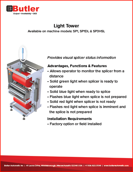 Light Tower Automatic Splicer Butler Automatic