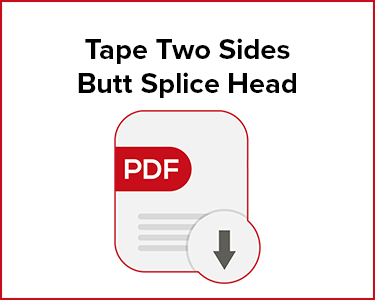 Butler Automatic Tape Two Sides Butt Splice Head Application Data Sheet