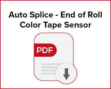 Butler Automatic Auto Splice - End of Roll Color Tape Sensor Application Data Sheet