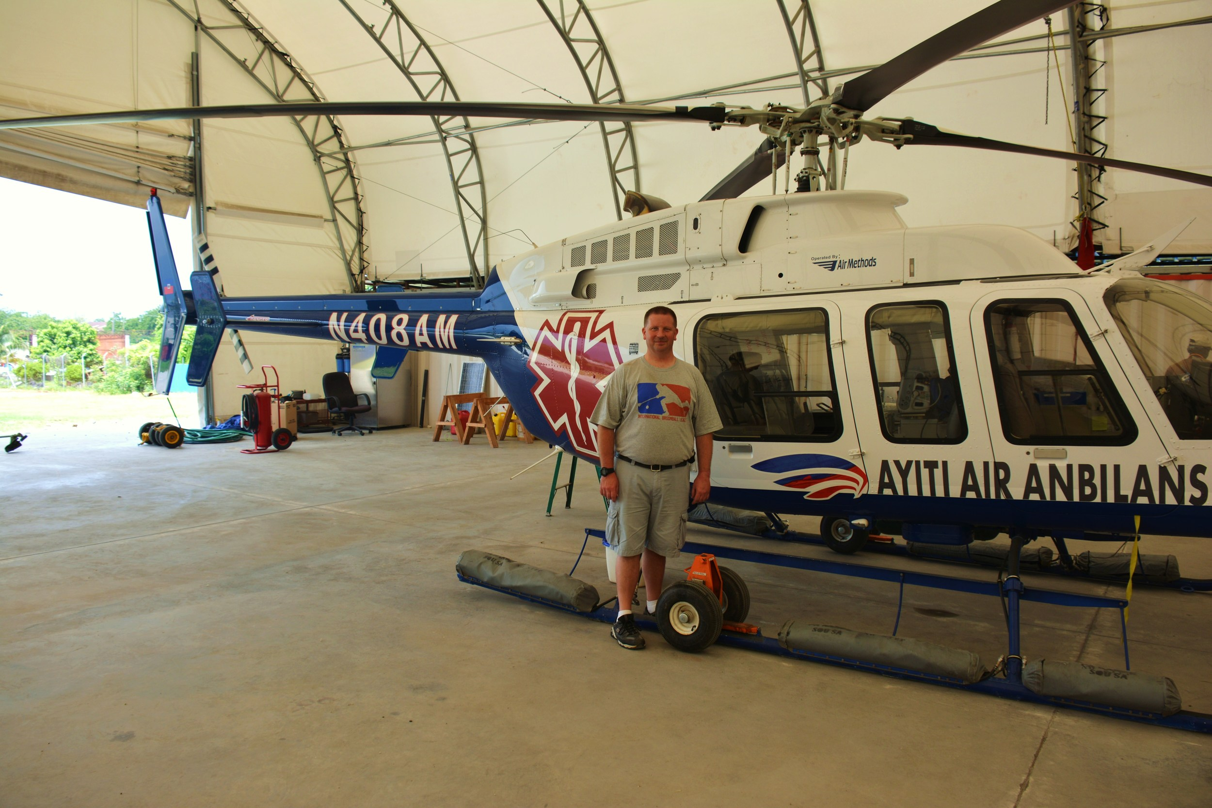 My visit to Haiti Air Ambulance. Been there, got the t-shirt!