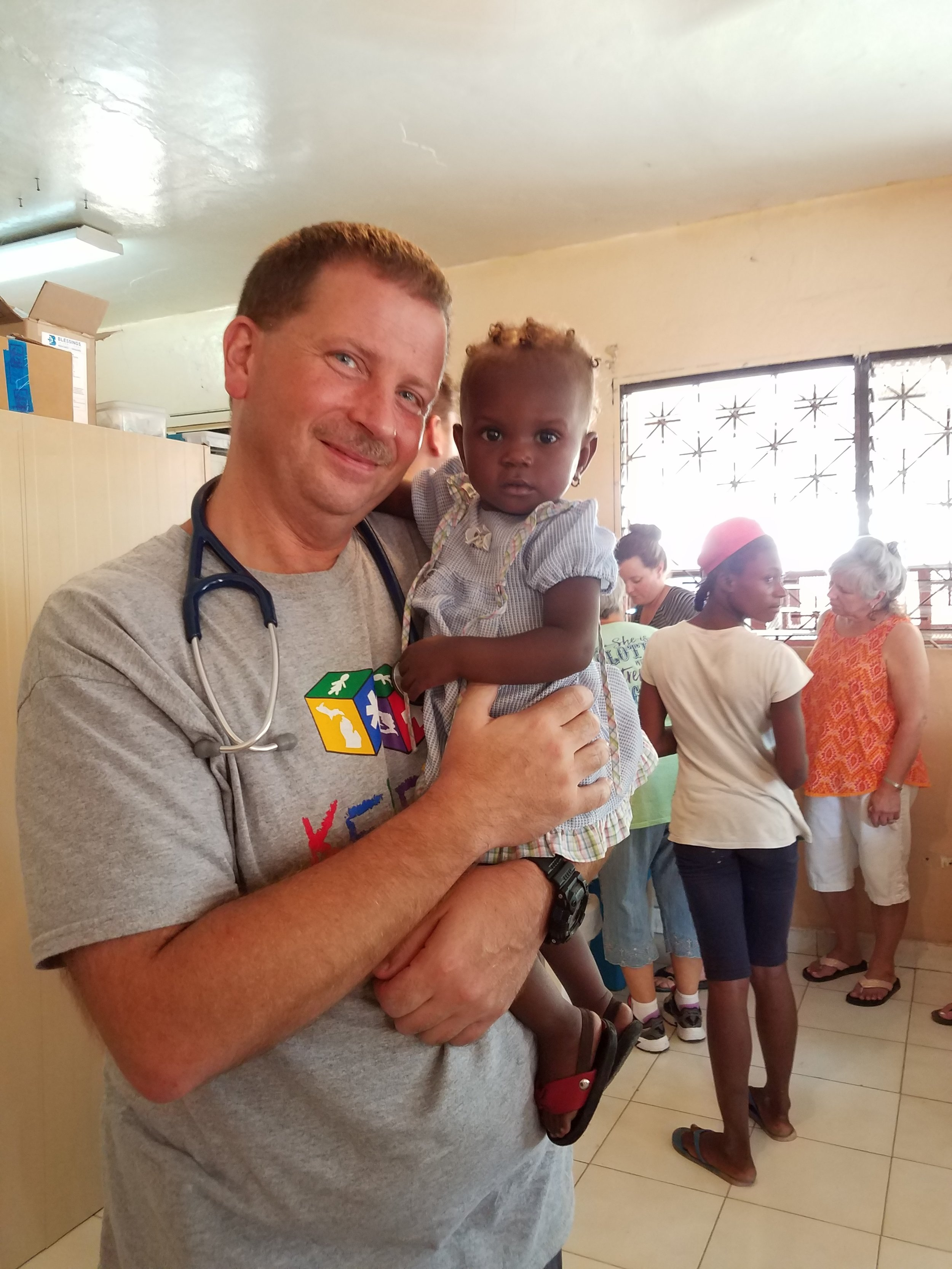 One of two graduates from the malnutrition clinic last week!