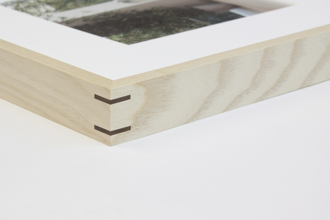 Clear Lacquered ASH with WALNUT splines