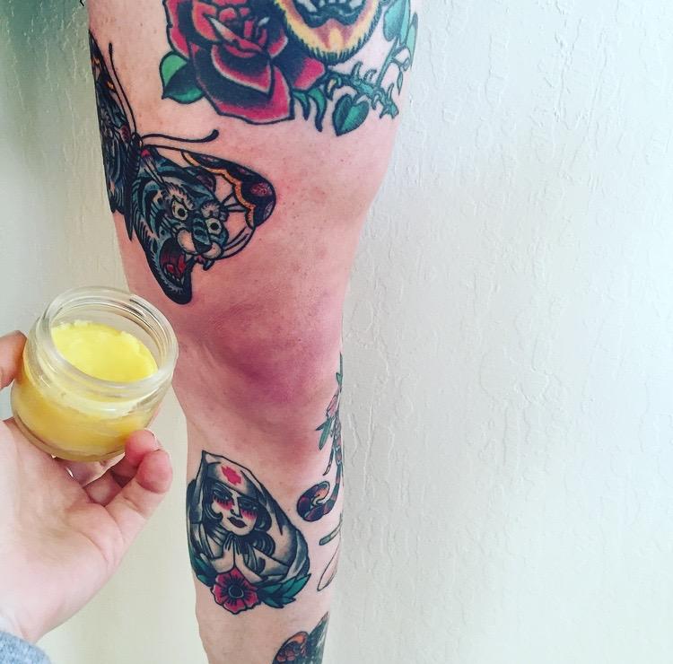 My boyfriend's fresh butterfly tattoo. It's killer. Nick Vargas is the man!