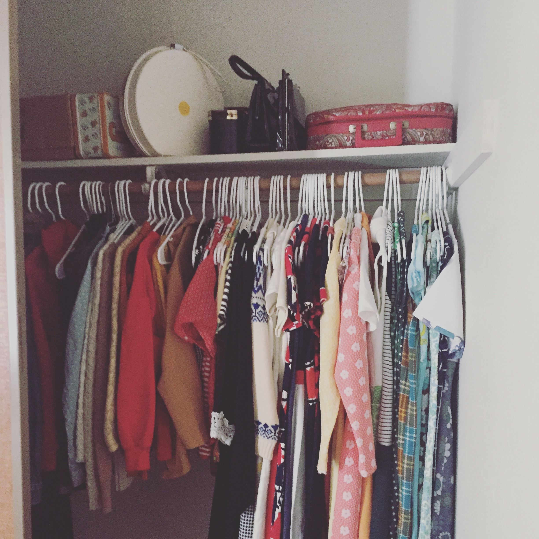 My vintage closet.