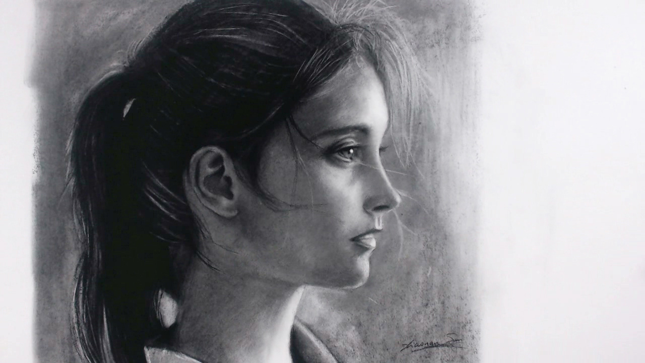 "Sold - Charcoal 18""x16"""