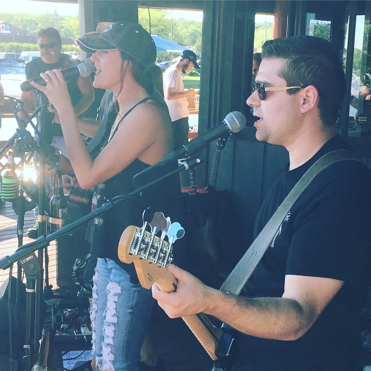 Chrissy Karl and Ken Vercellotti of CK and The Gray performs at Horns & Halos Saloon in Channahon, IL