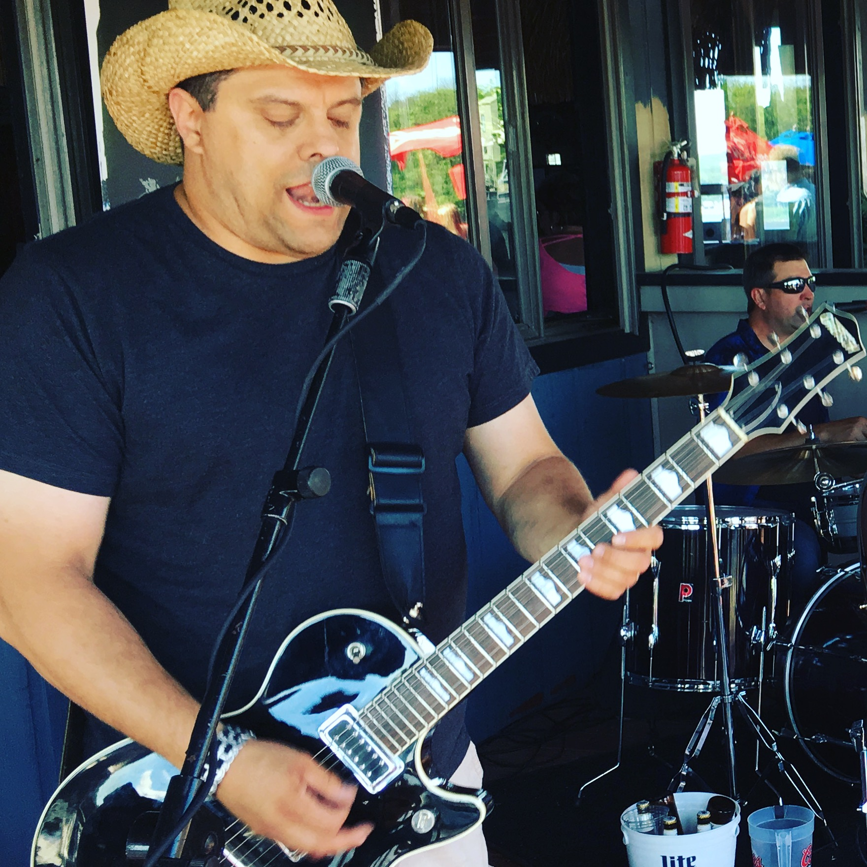 Neal Rudnik of CK and The Gray performs at Horns & Halos Saloon in Channahon, IL