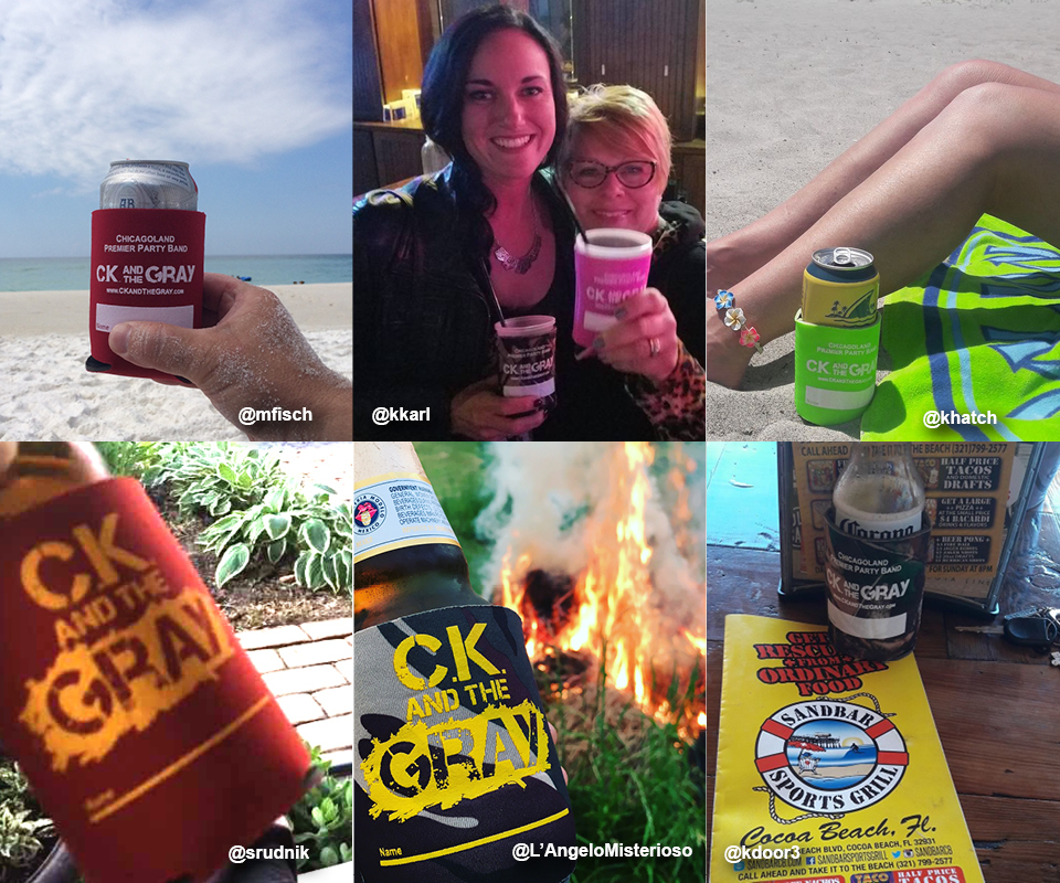 See #ckcancooler Submissions! - There's always opportunity to take a quick pic of you and your koozie. See Fan Submissions >