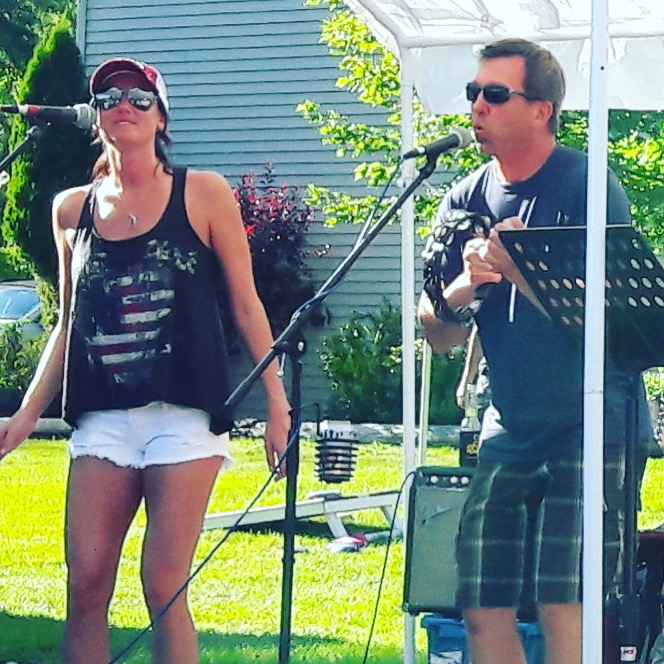 Chrissy Karl and Carter Szok of CK and The Gray performs at Freddie's West End in Lake Como, WI