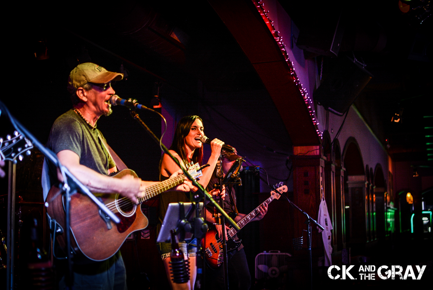 Kris Hachmeister and Chrissy Karl of CK and The Gray performs at Jenny's Southside Tap in Mokena