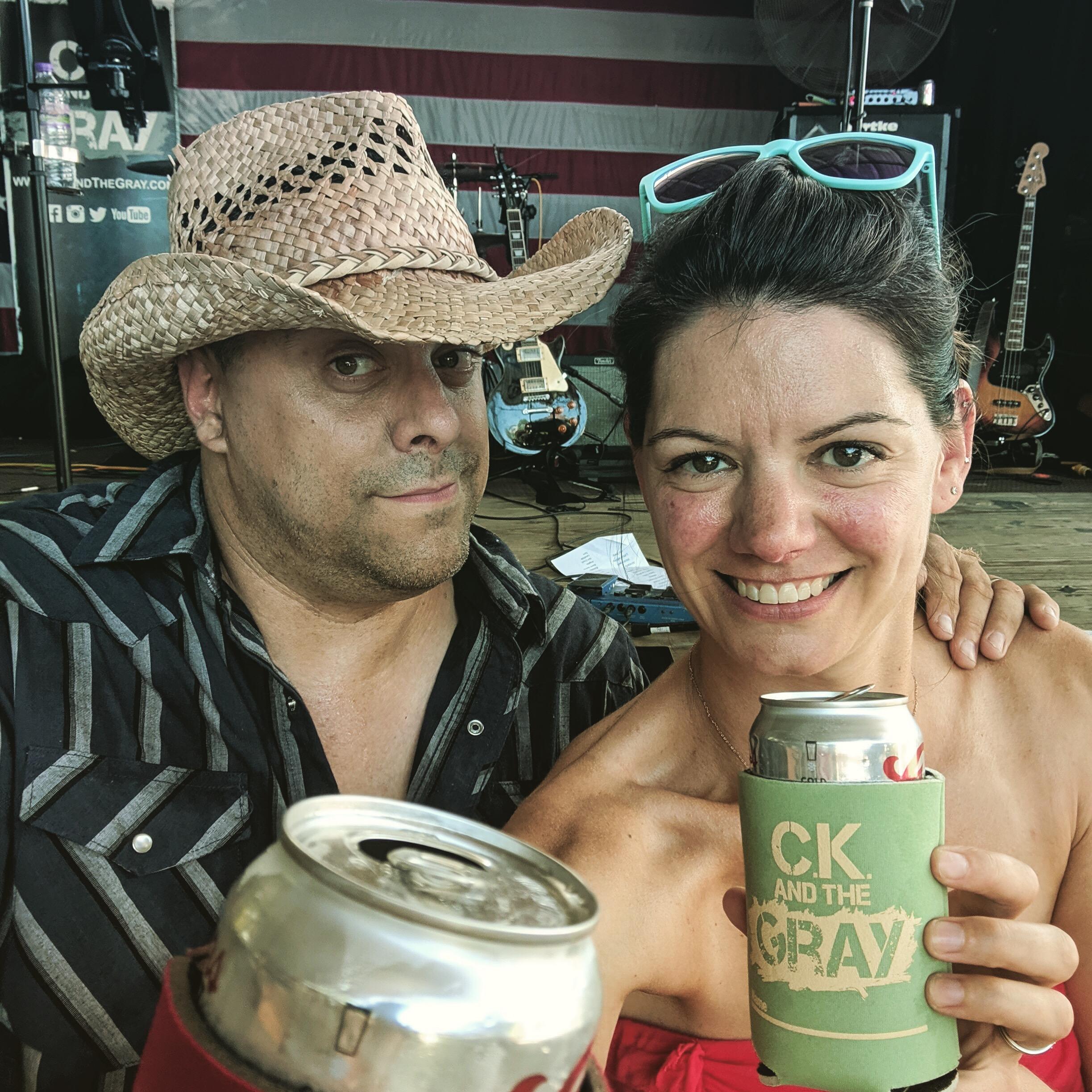 Neal and Sara at the Psycho Silo Saloon #ckcancooler
