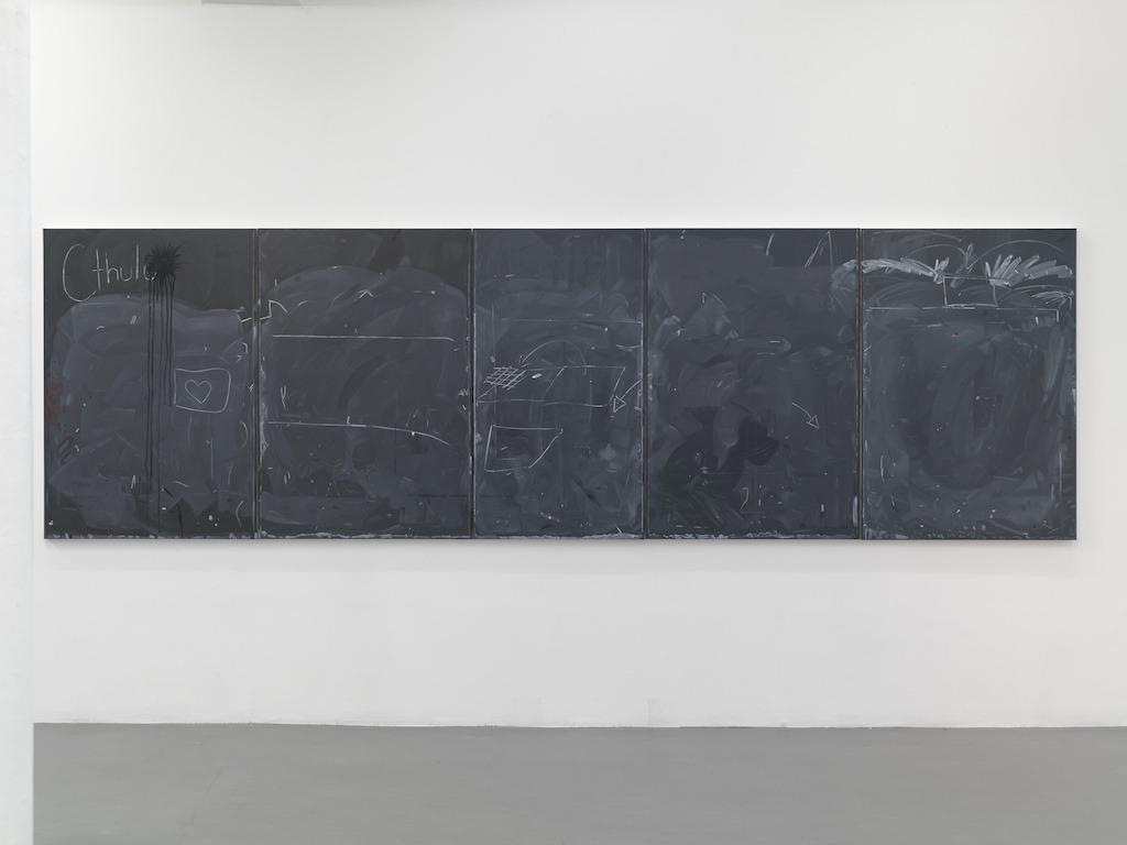 Josephine Halvorson.  Room 441.  Oil on linen. 50 x 168 inches.