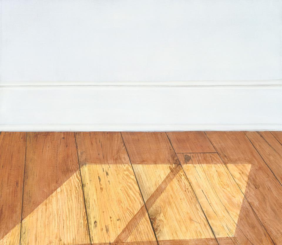 Sylvia Plimack Mangold. Floors with Light at Noon, 1972.