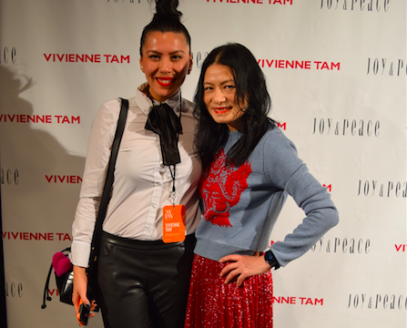With designer Vivienne Tam- she was a pleasure to interview!