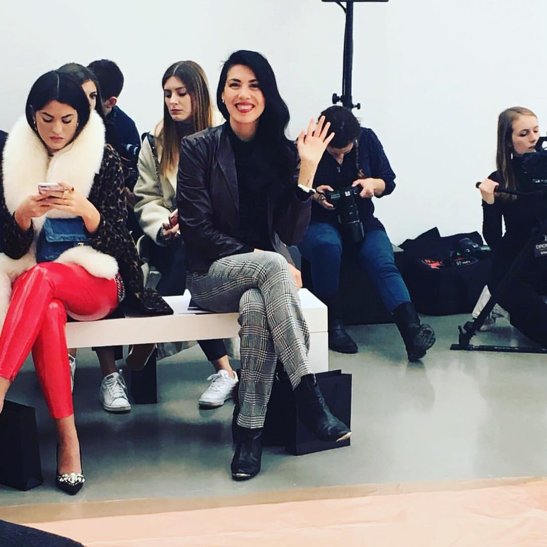 Waving hello from the DROMe Runway Show, Paris, March 2017