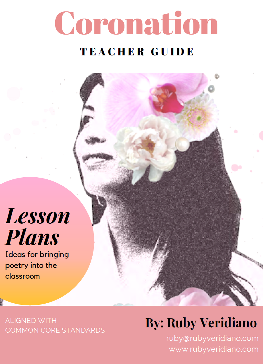 Download Ruby's FREE lesson plan guide   for educators for ideas on how to bring pieces from Coronation into the classroom!  The lesson plans can be used for Grade 9 and above, including early college level.  They are aligned with Common Core Standards  (USA).