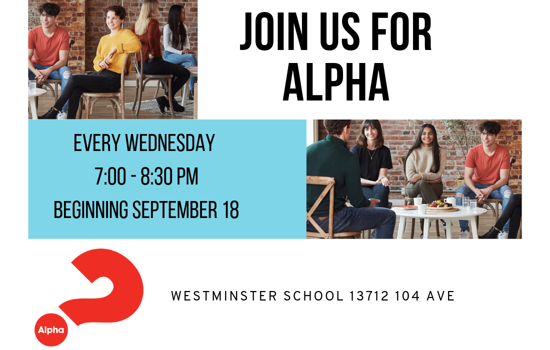 ALPHA - An Introduction to the Christian Faith   There is no cost for this course and it is open to anyone. Each night we provide refreshments and dessert for everyone. If you are Interested in attending the next Alpha Course, sign up at the Connect Table or click here  Alpha@thePearl