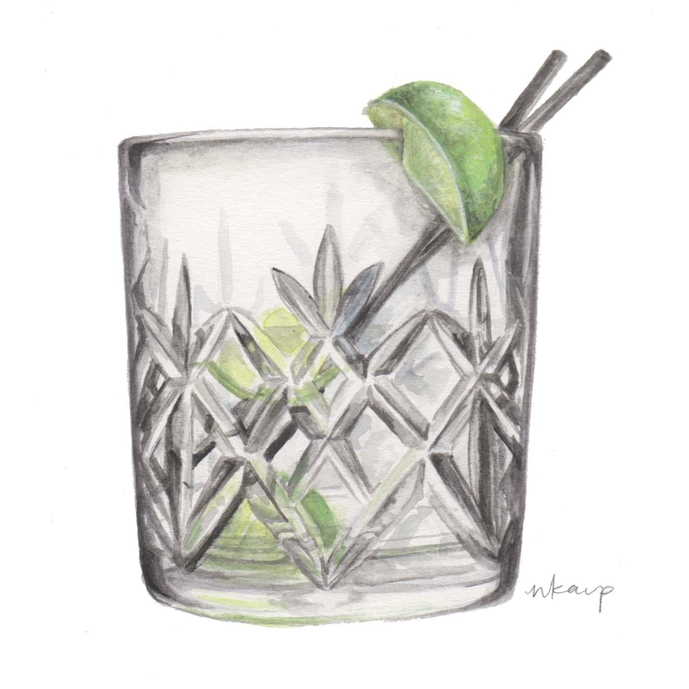 Amy's Vodka Rocks, Three Limes