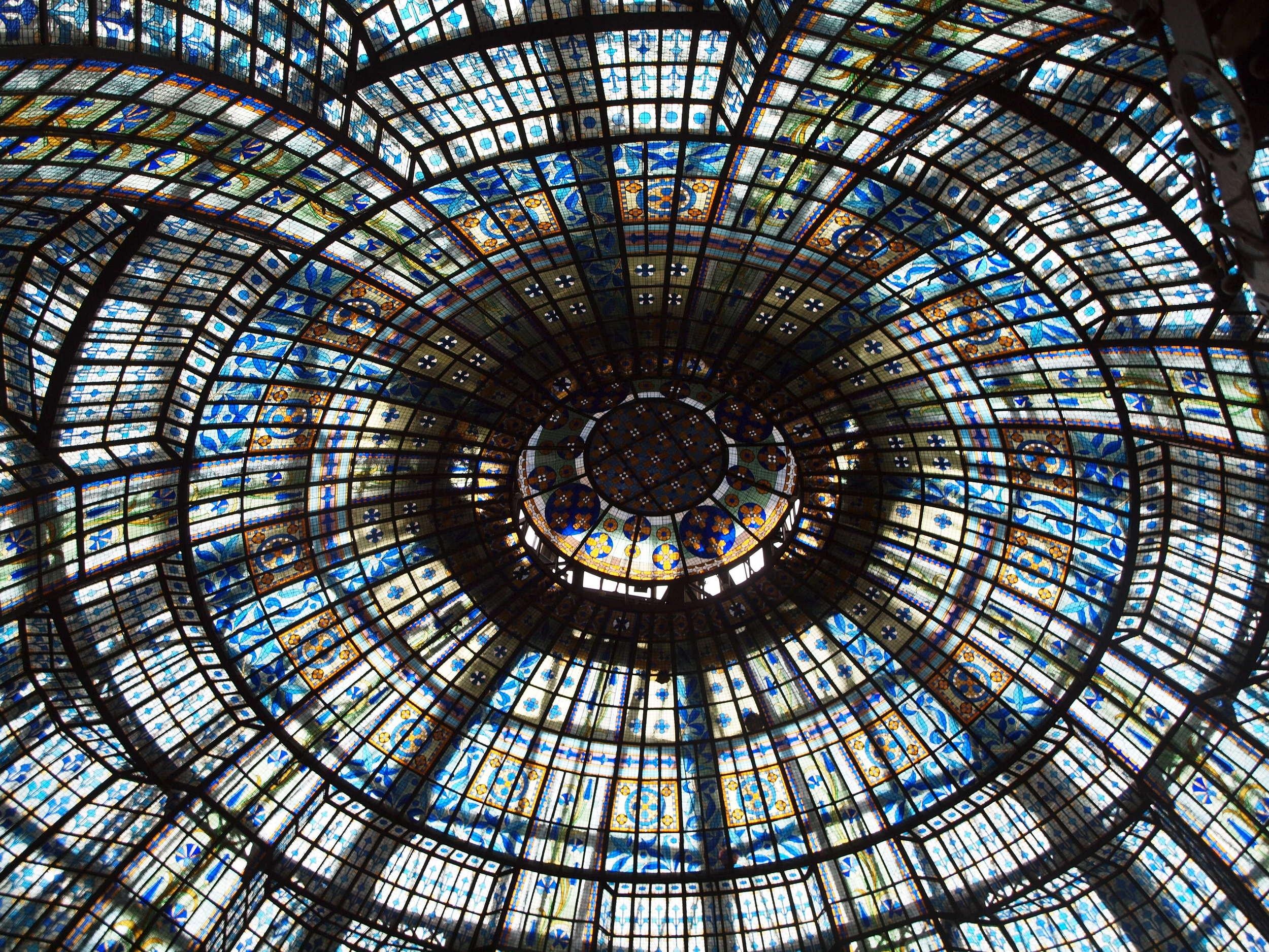 Art Nouveau glass dome