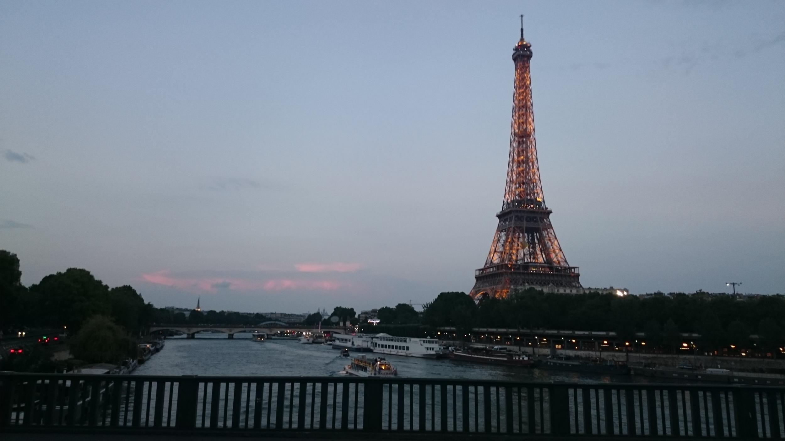 Shiny Eiffel Tower