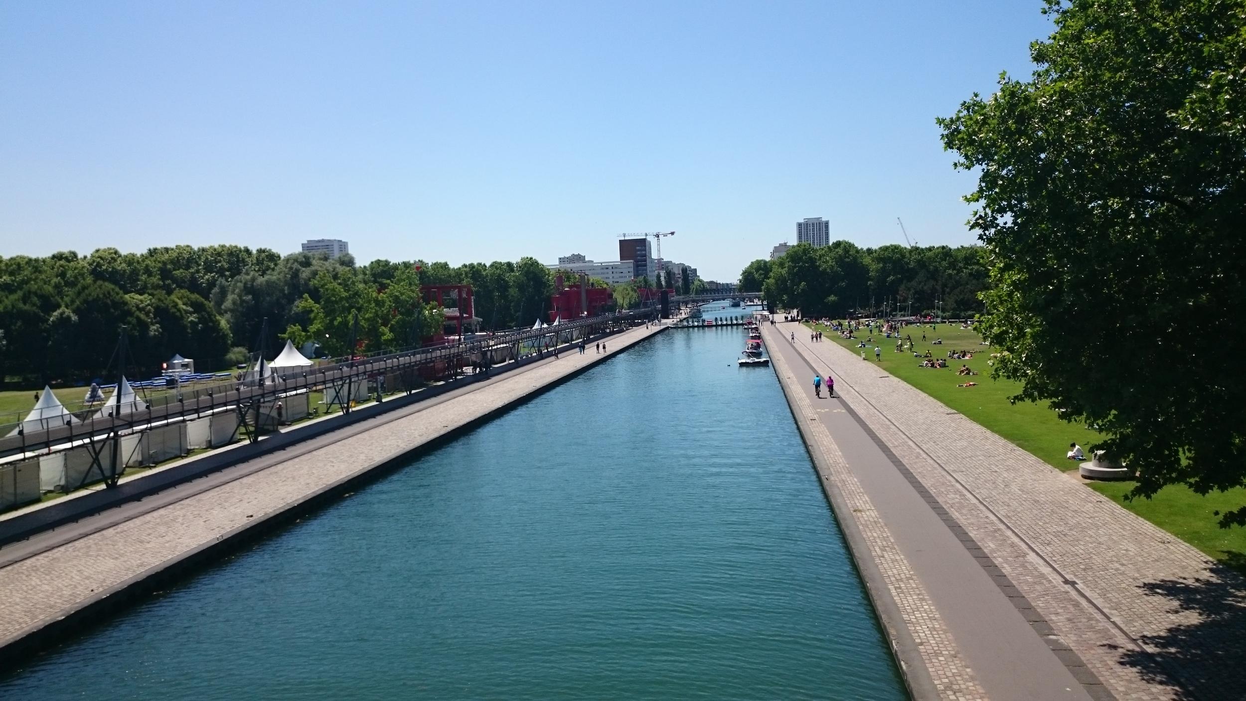 River near Parc de La Villete