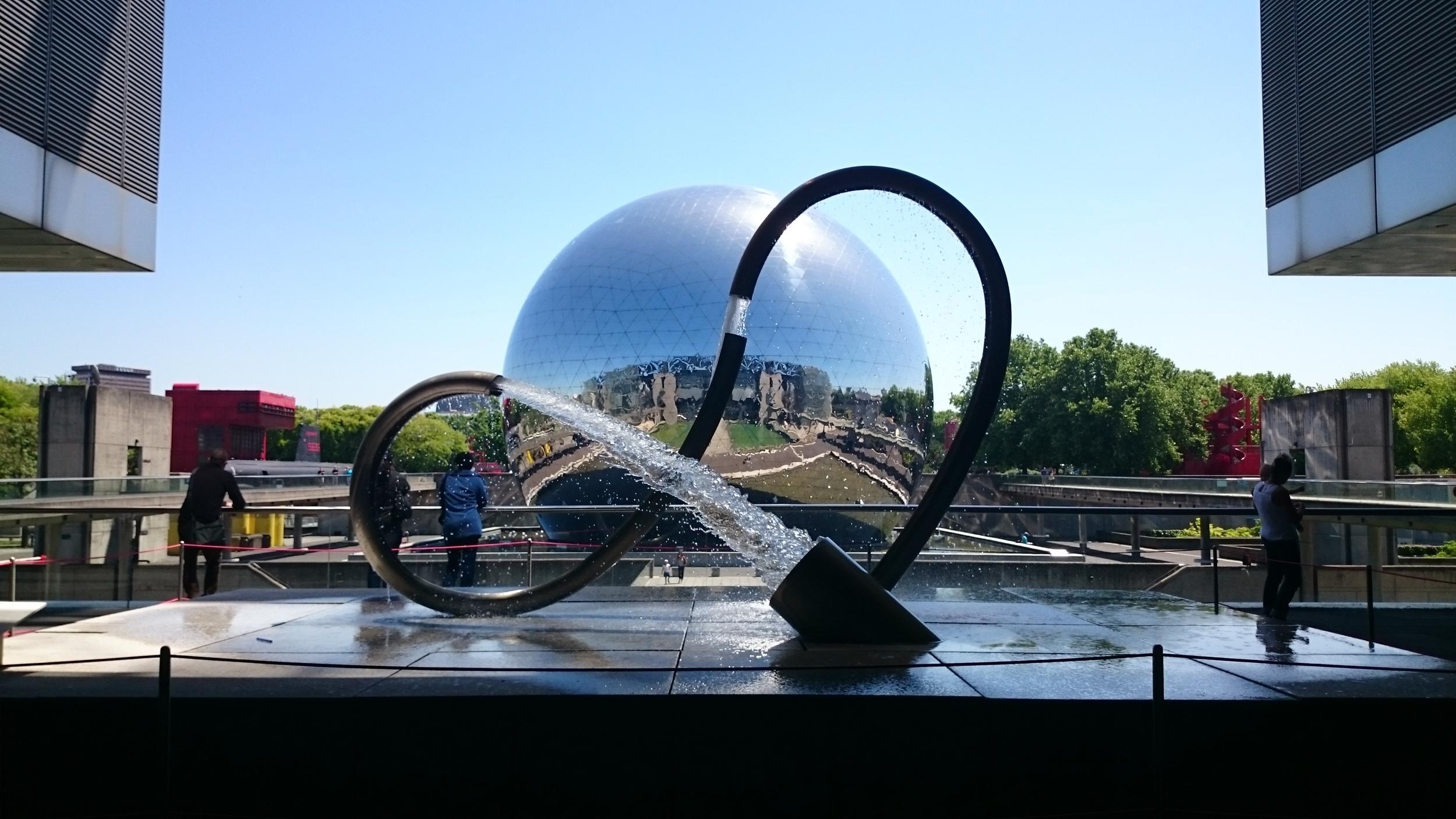 Huge reflective Ball