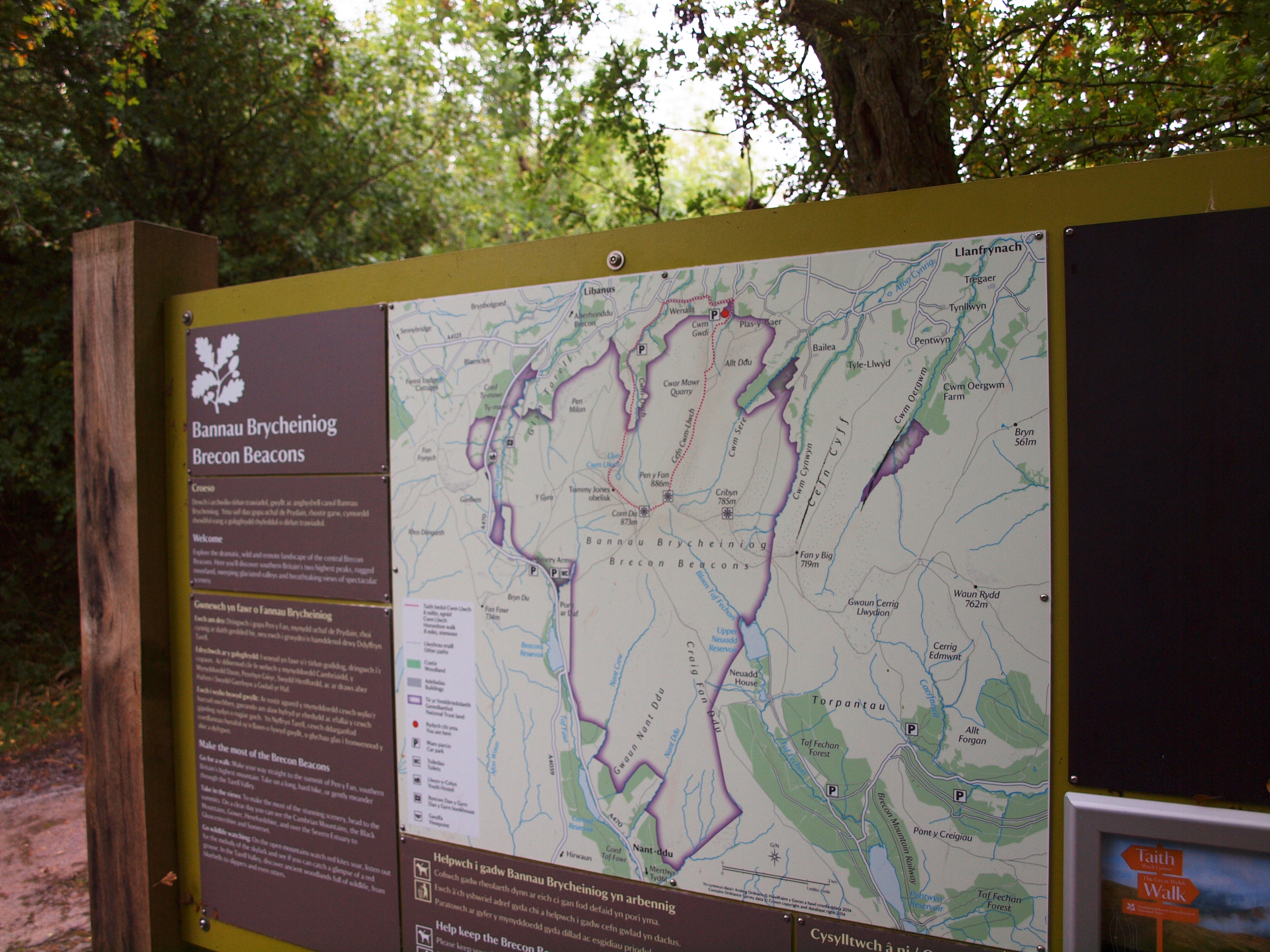 Our hiking trail illustrated in red