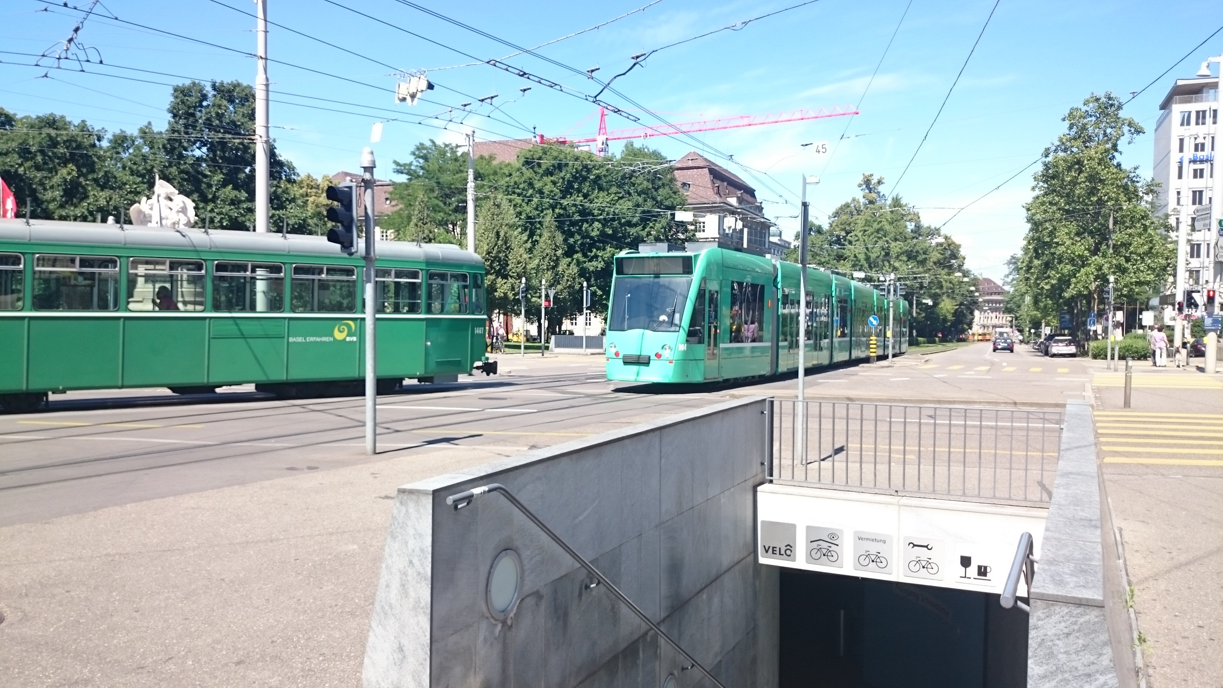 Teal Trolleys in Basel- a day pass is around 18 Francs... omg