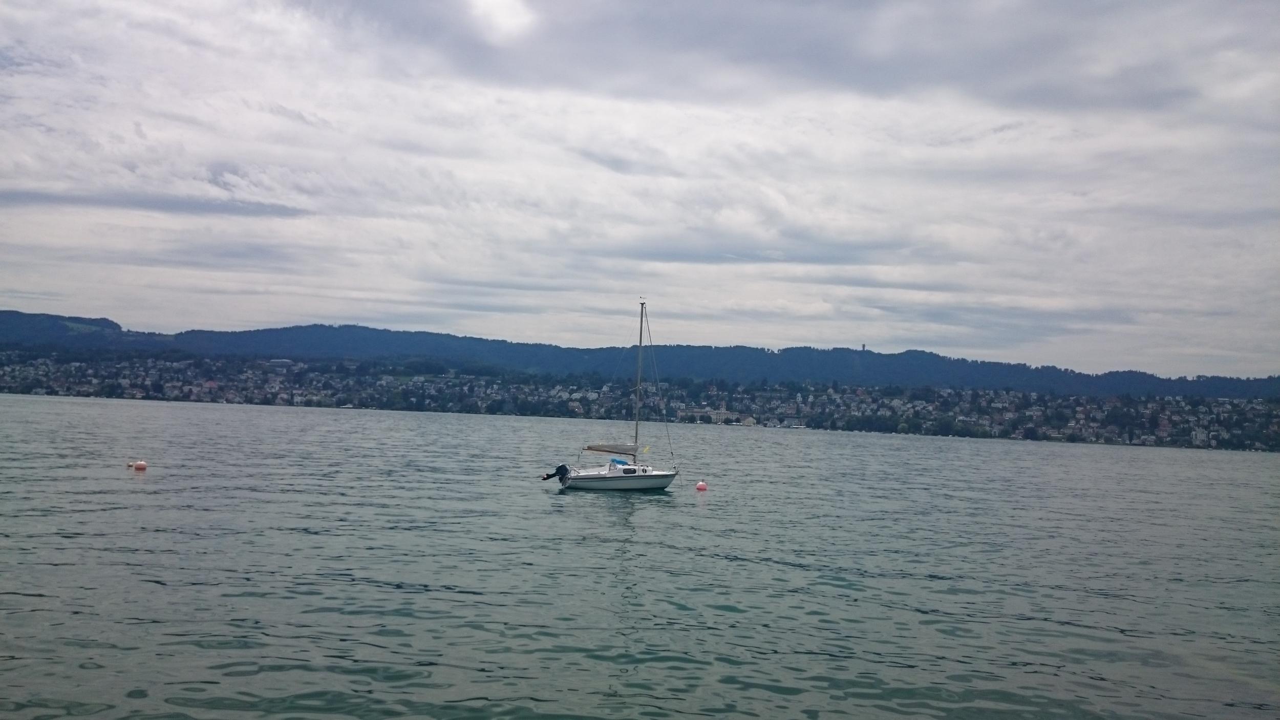 Boats around zurich