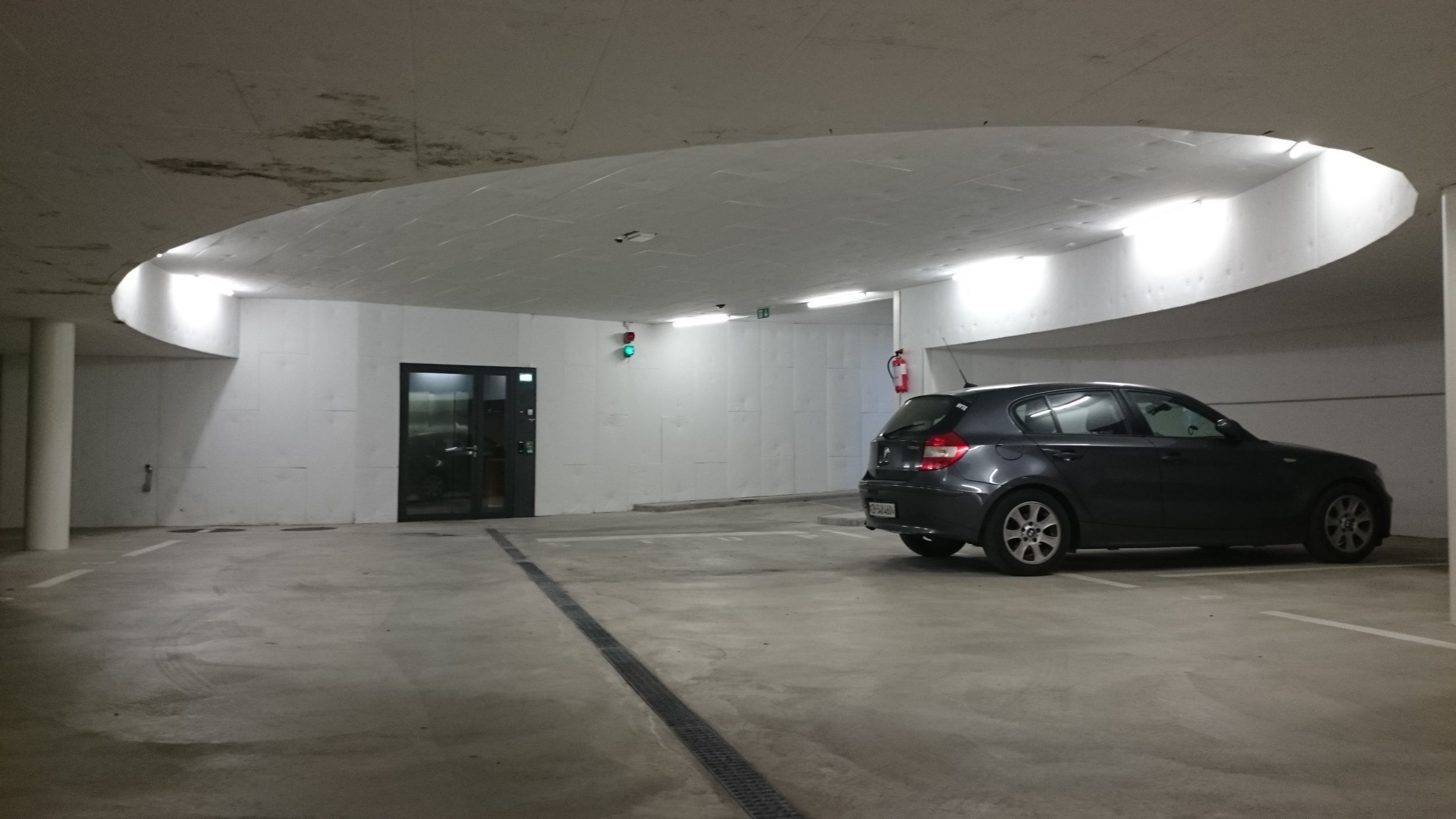 Parking lot in the basement