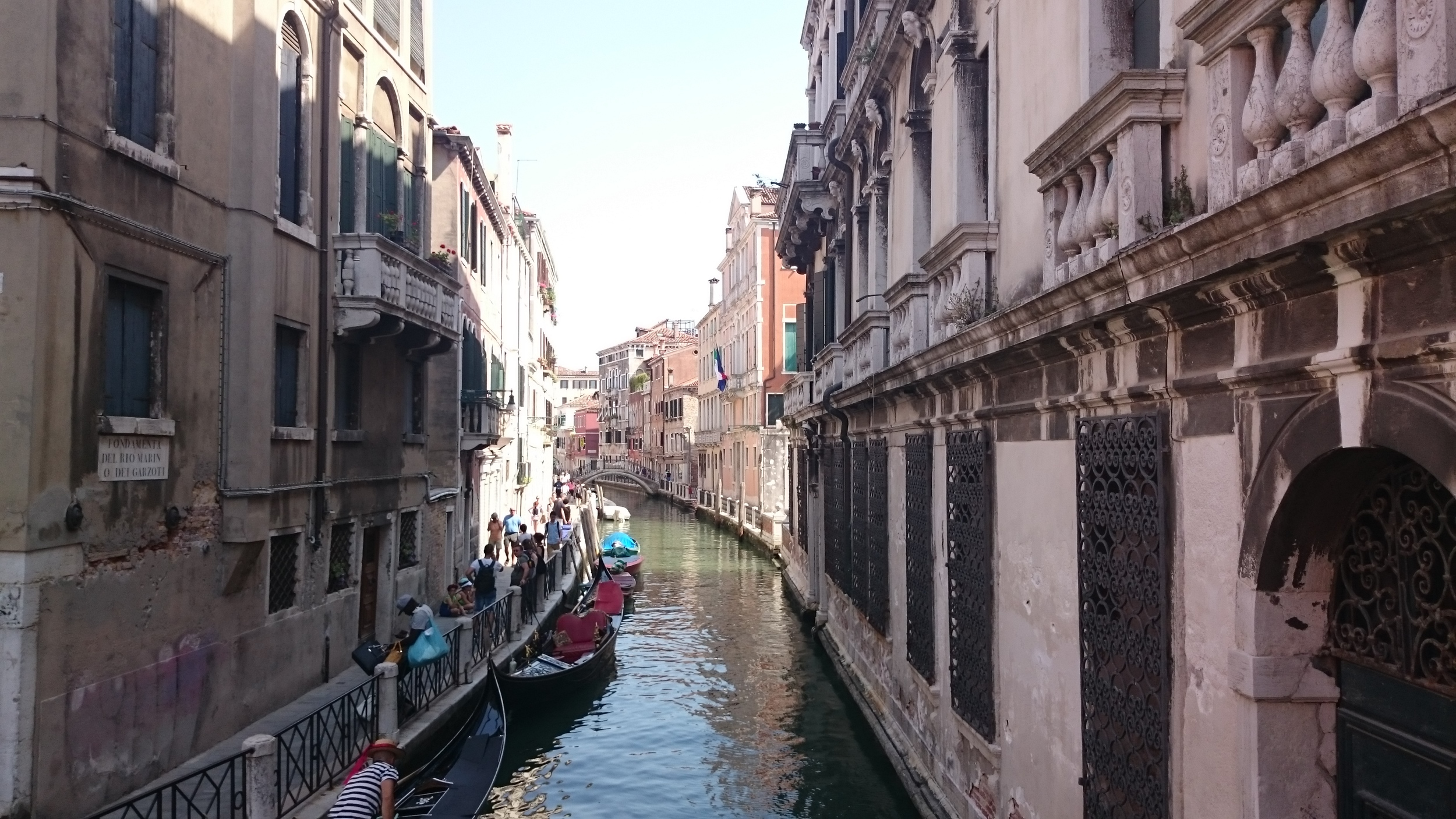 Typical view of venice canals