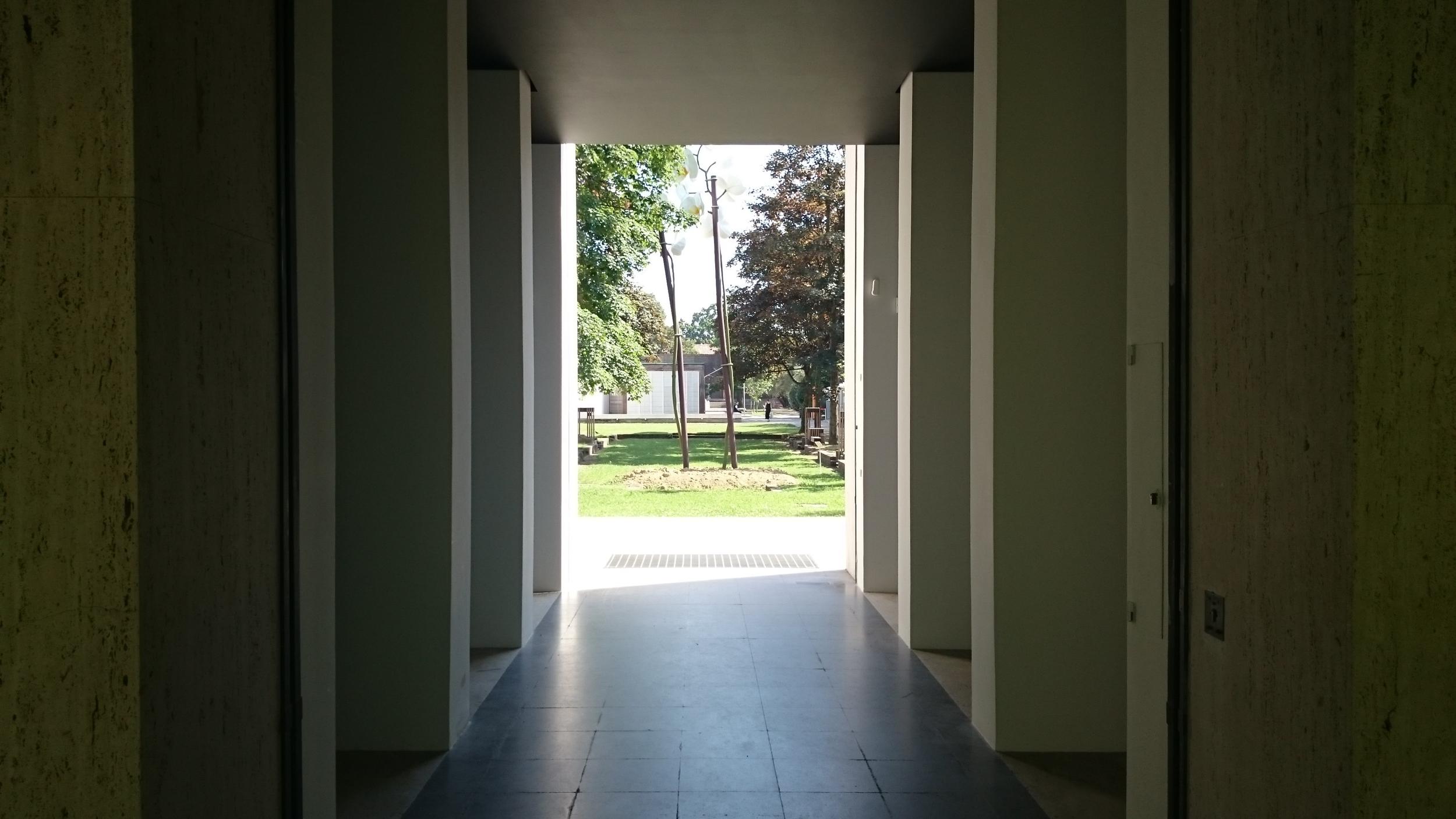 Framing a courtyard