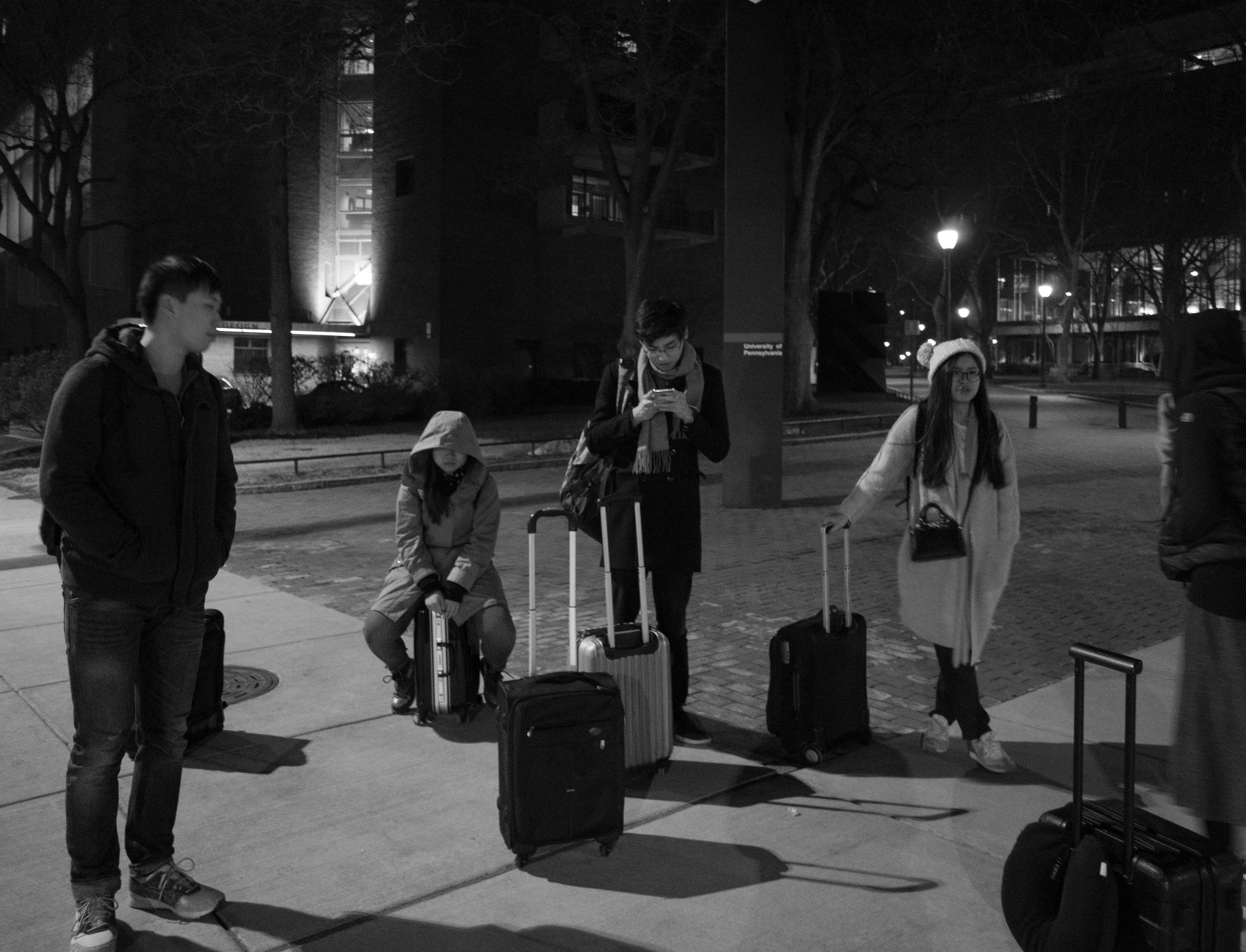 2 AM waiting for our shuttle to Laguardia ~