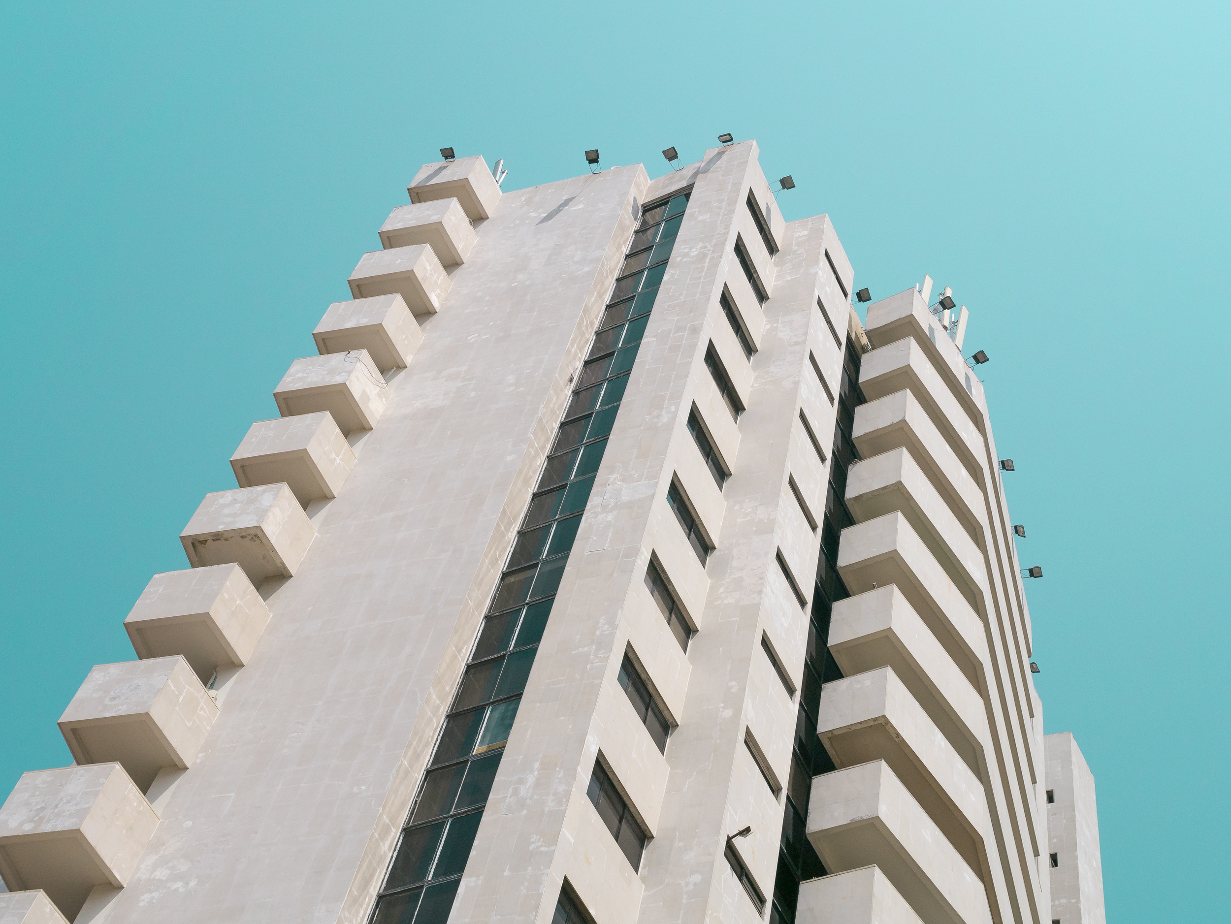 Modernist Brutalist building in Cartagena