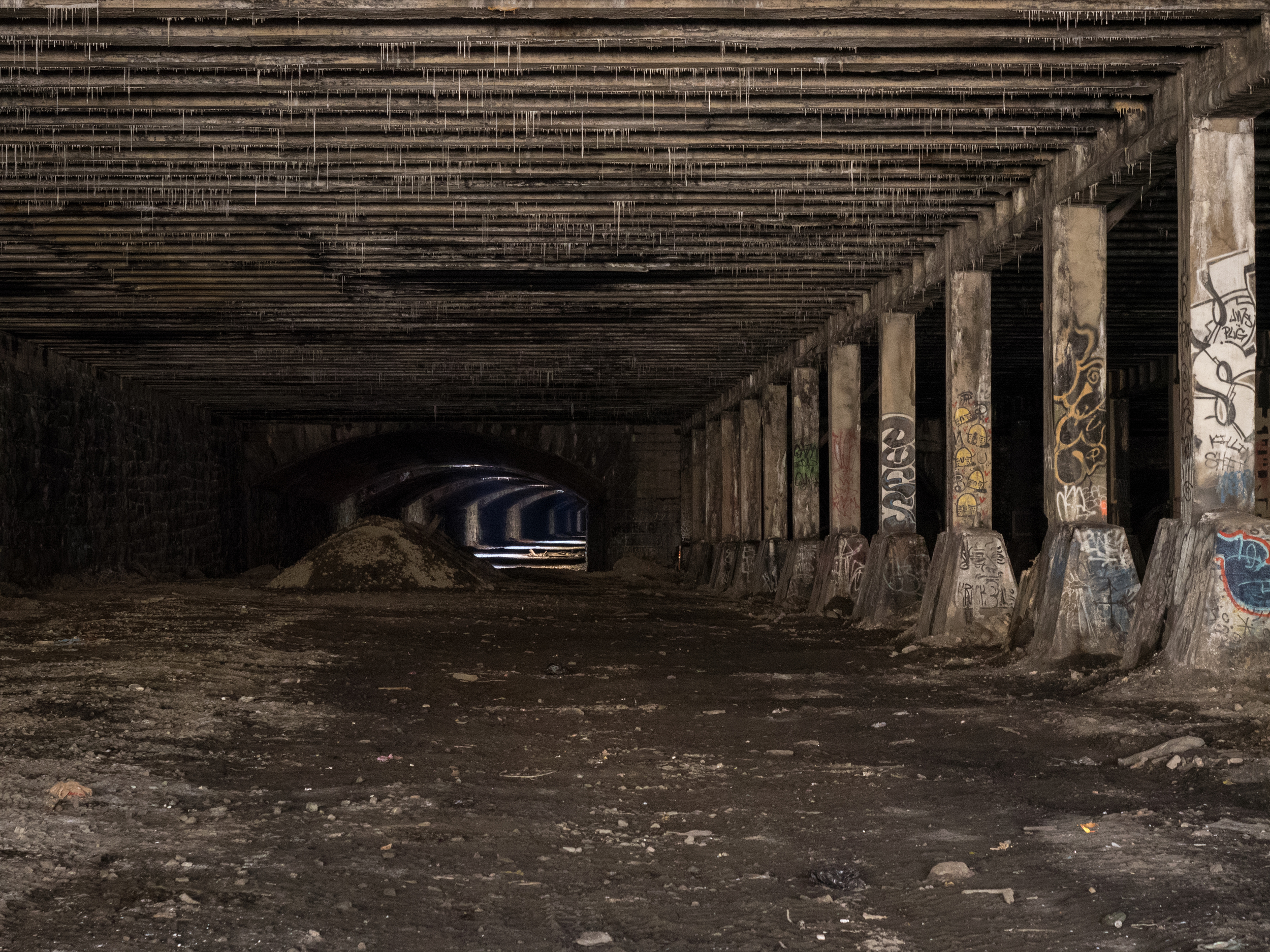The starting point of the underground viaduct