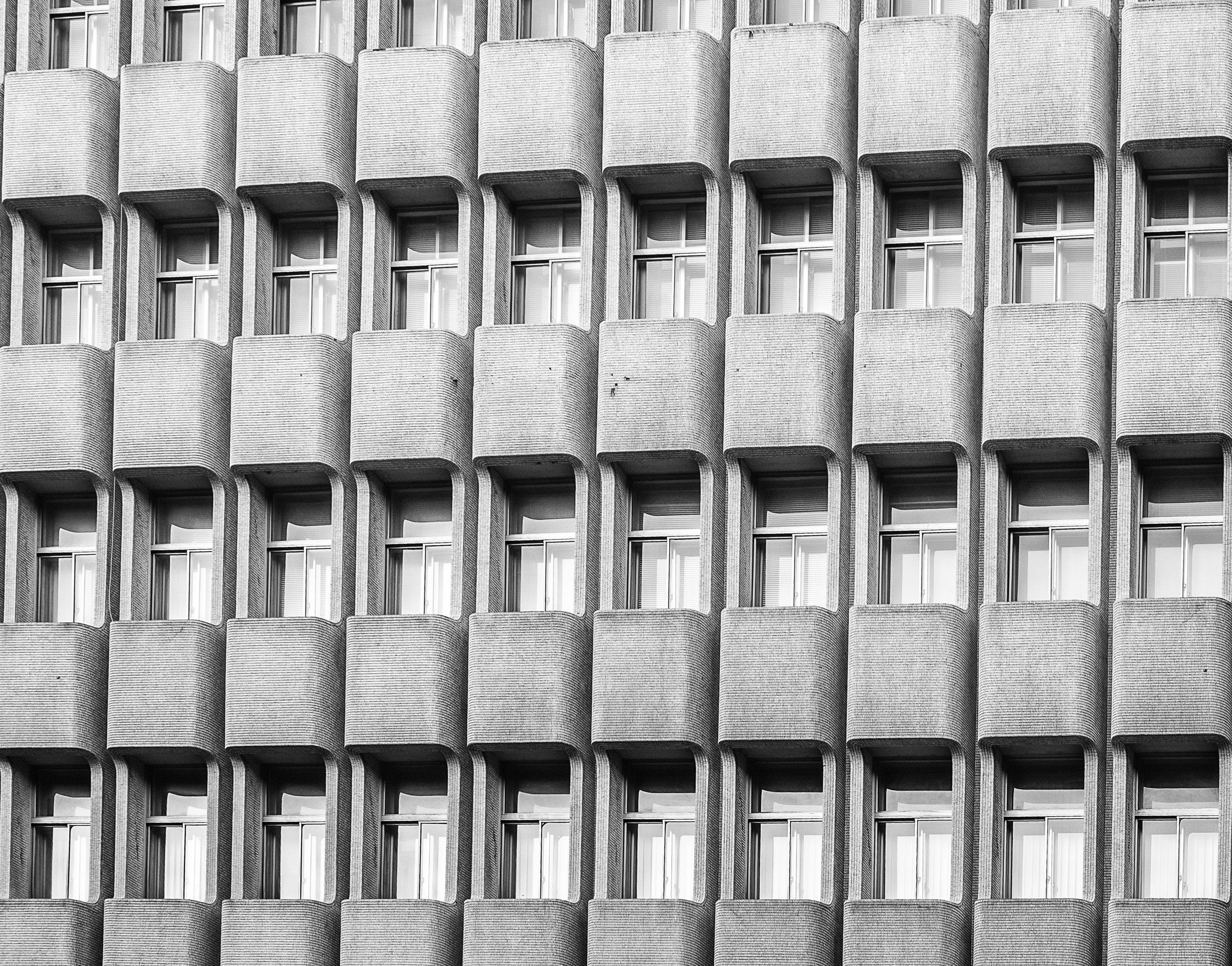 repetitive balconies