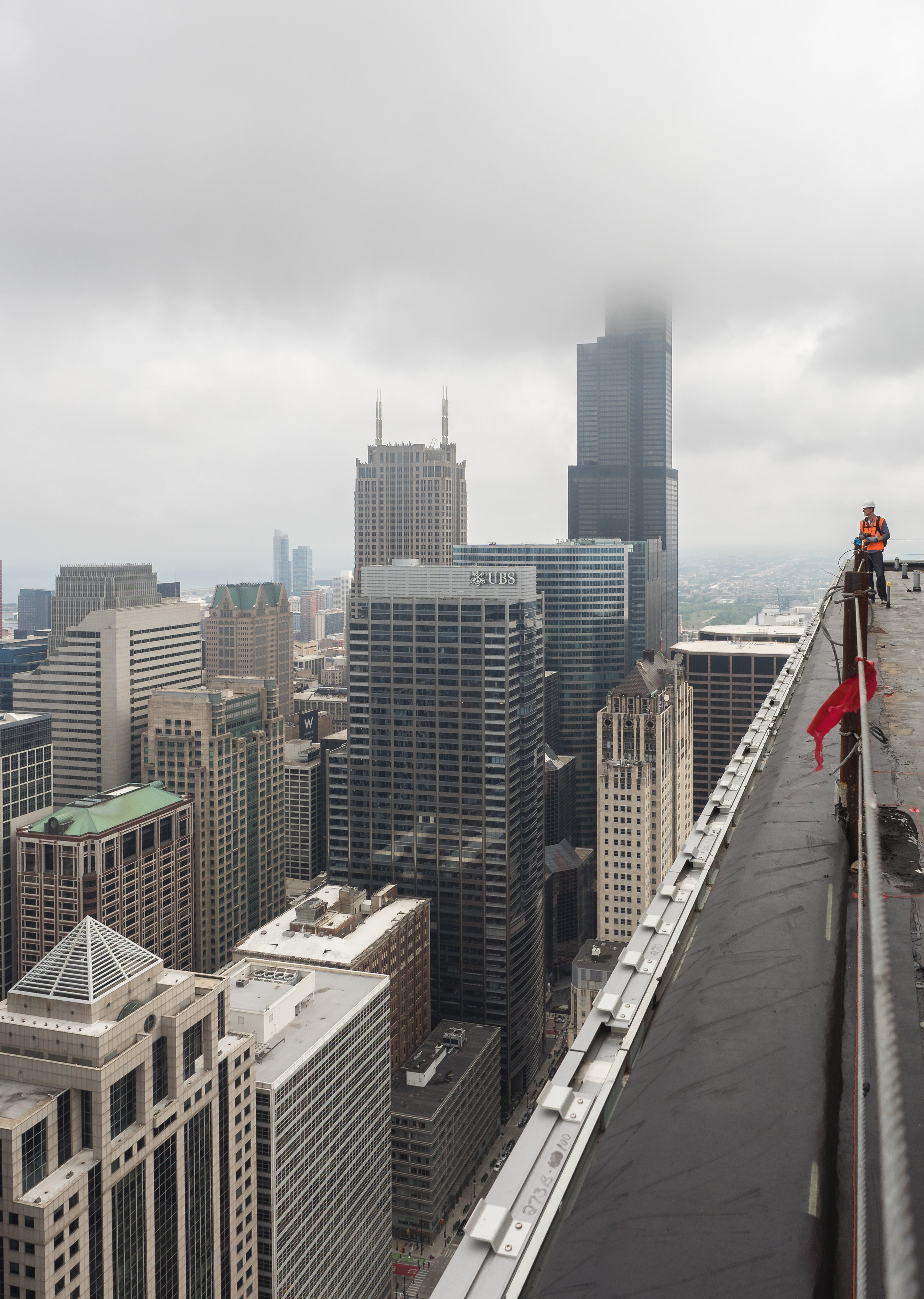 It was a pretty gloomy day so the view wasn't the best on the roof