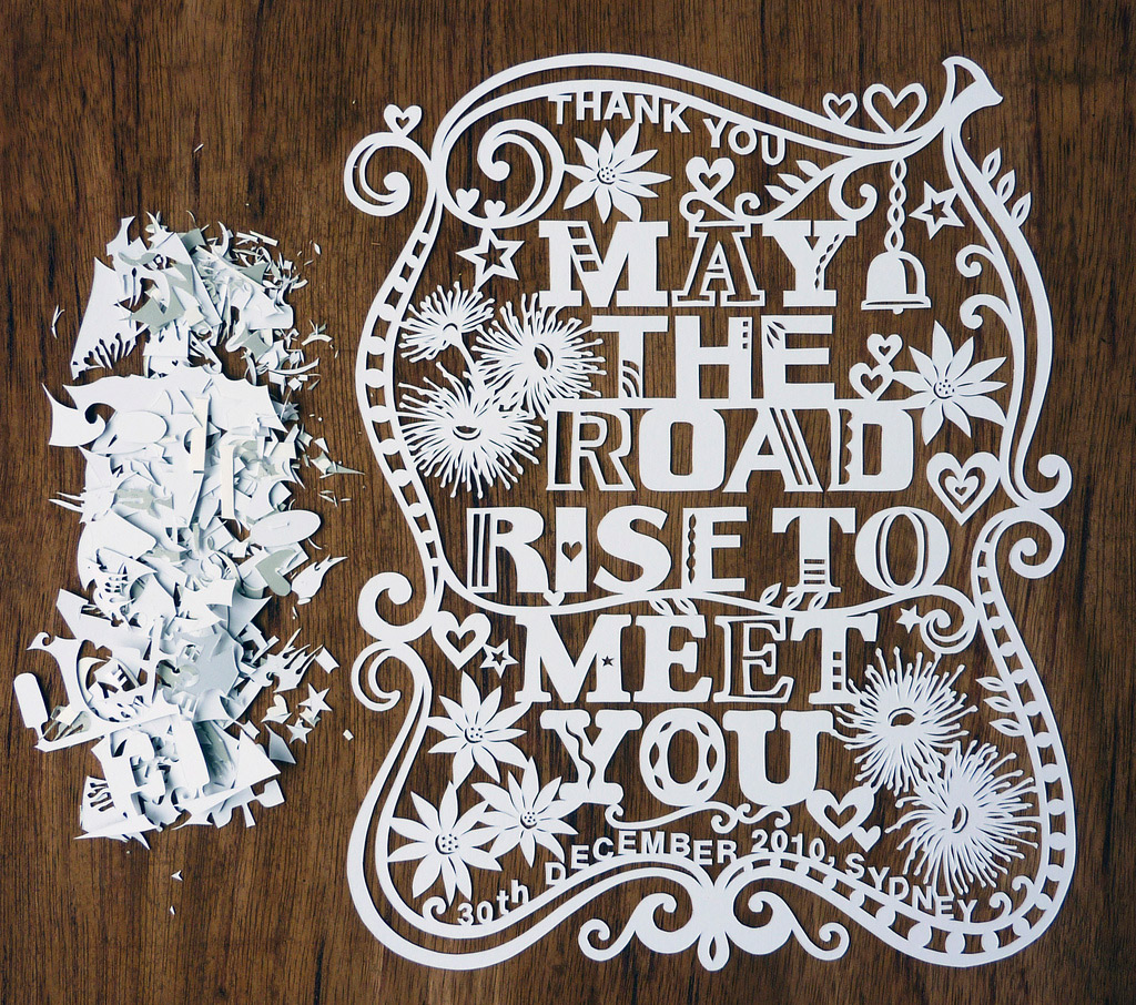 papercut illustration intricate with flowers