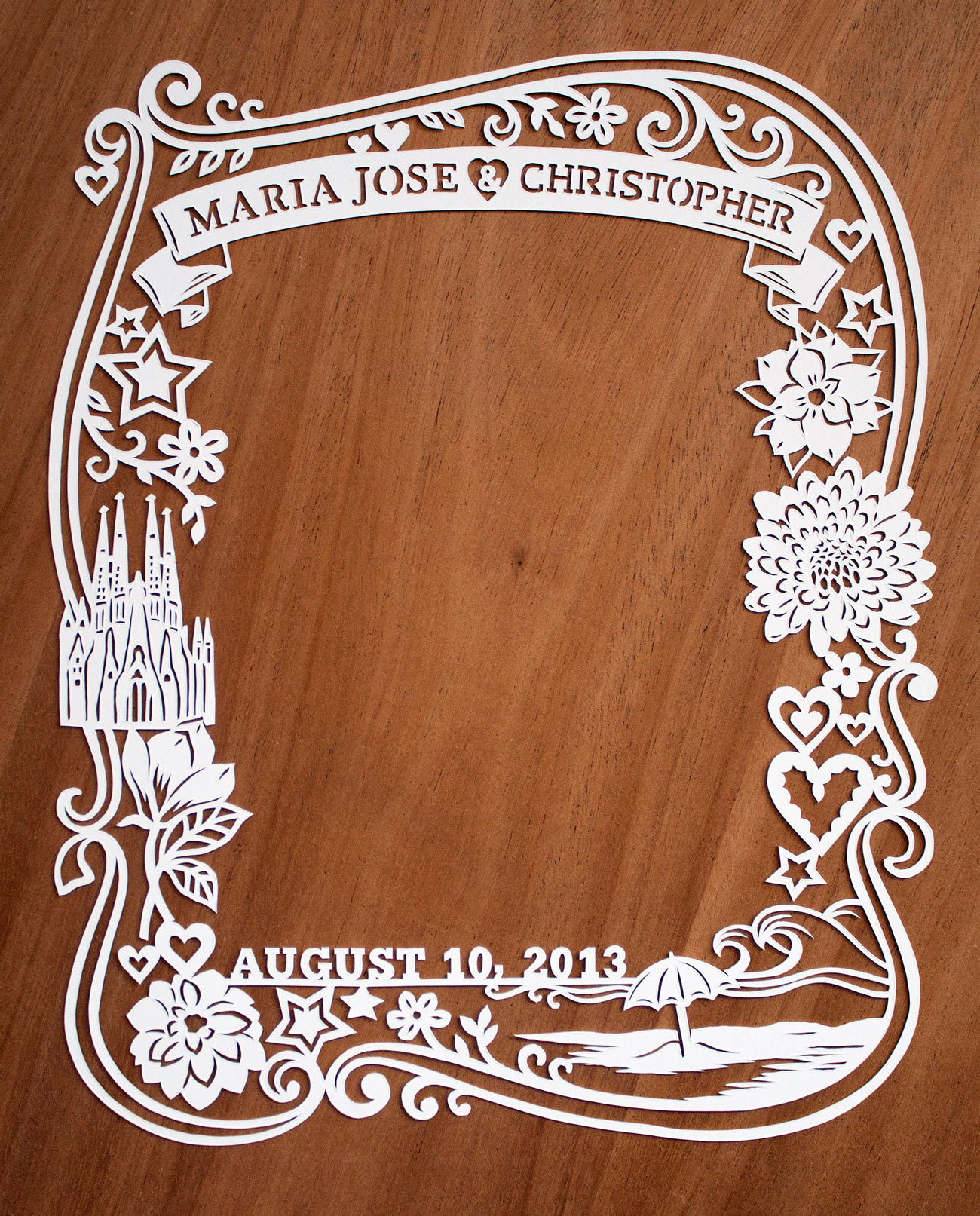 beautiful papercut frame