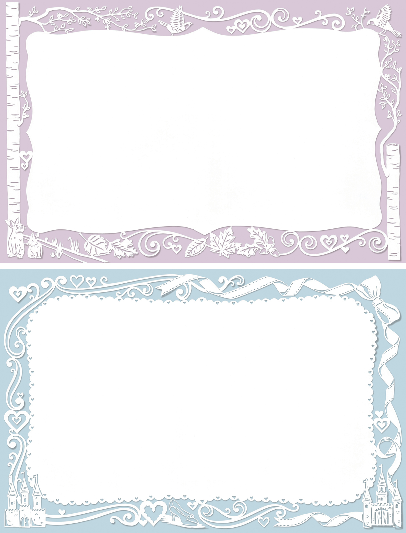 papercut decorative frame