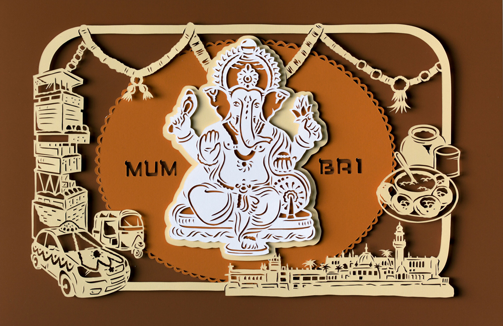 papercut-illustration-mumbai-ganesh