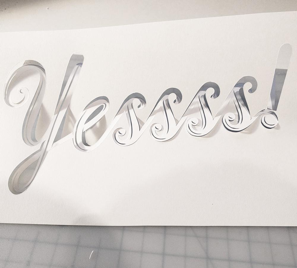 papercut-illustration-yes