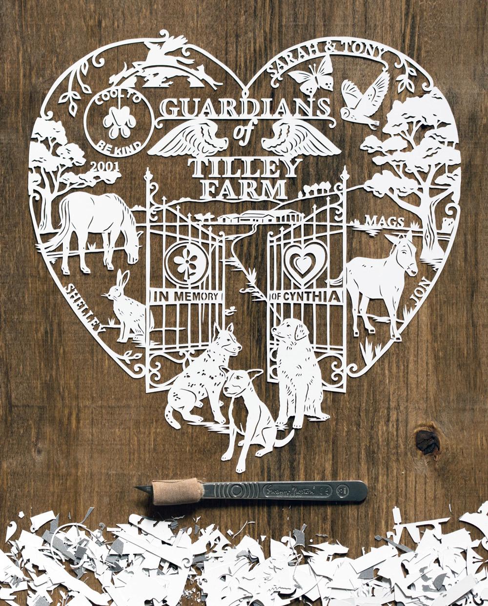 papercut-illustration-farm-horse-dogs