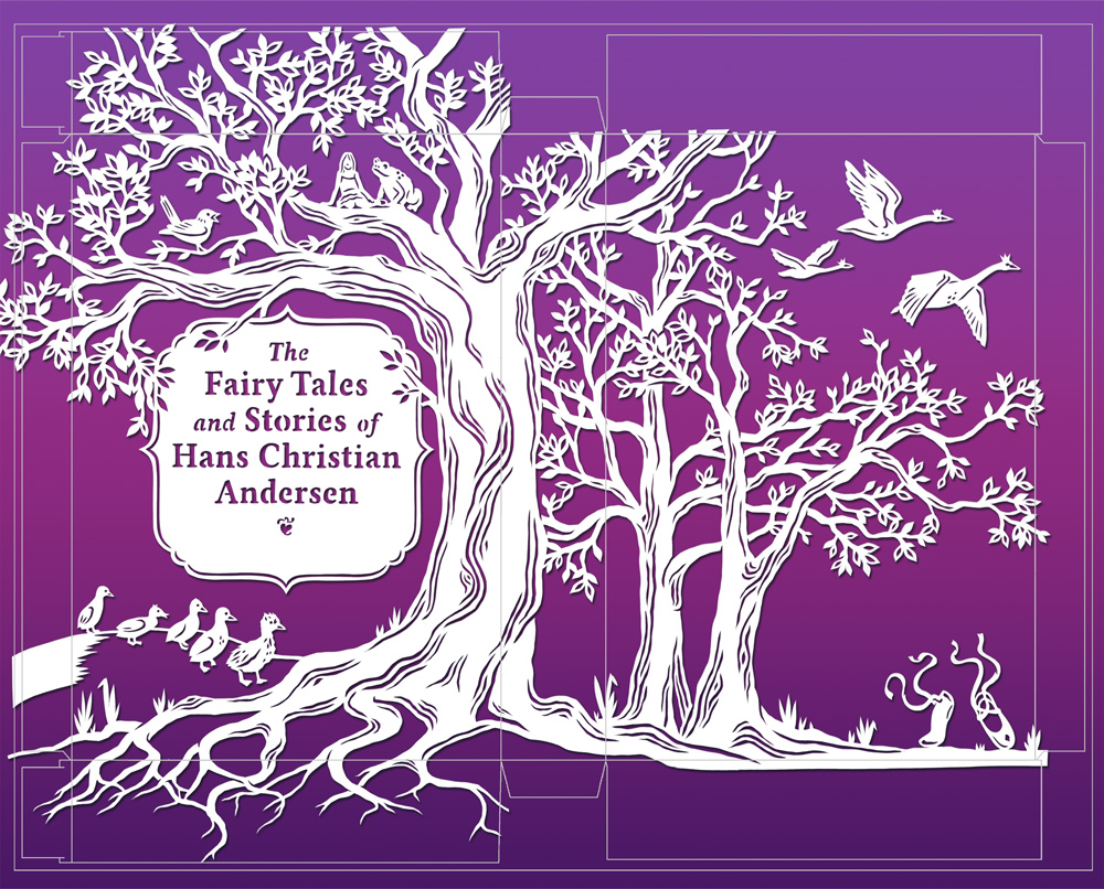 julene-harrison-papercut-illustration-hans-christian-anderson-book-cover