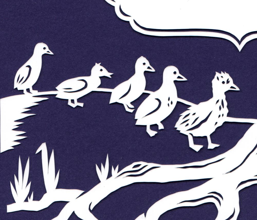 julene-harrison-papercut-illustration-ugly-ducklings