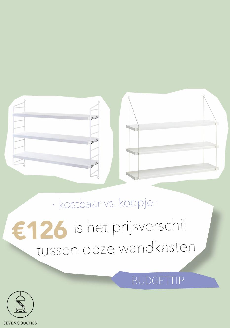 Kostbaar vs. koopje: wandkast met drie planken