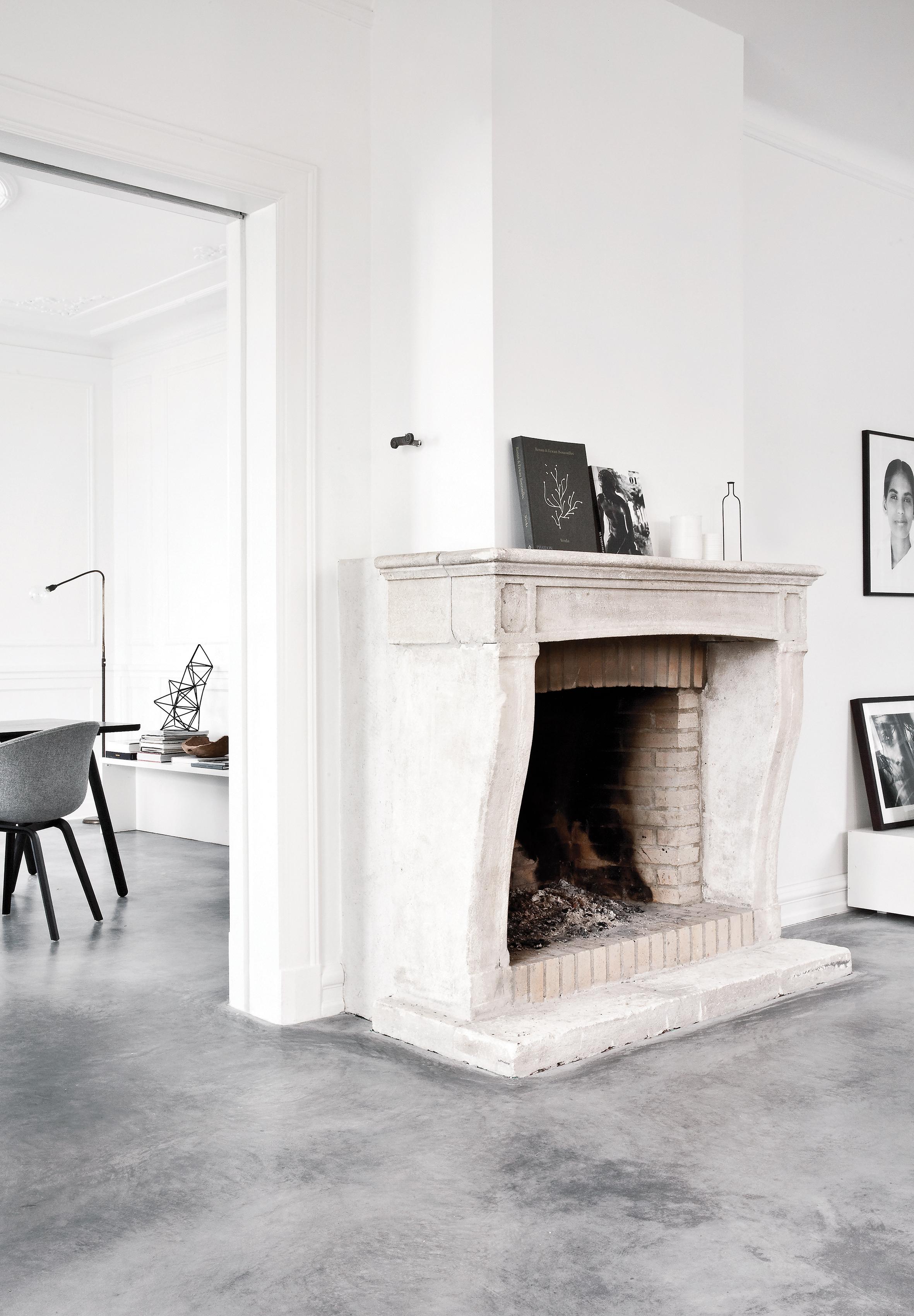 Vloerverwarming als alternatief voor radiatoren (beeld: Norm Architects)