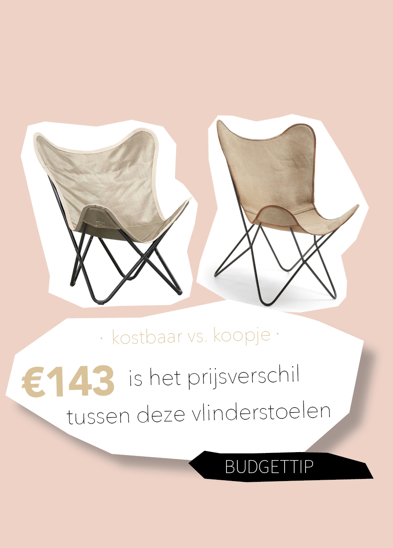 Kostbaar vs. koopje: een van deze vlinderstoelen kost nu maar 15 euro